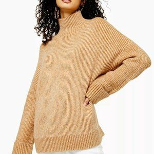 Topshop Sweater Knitted Supersoft Funnel Neck